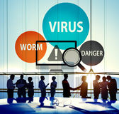 病毒互联网安全Phishing垃圾短信概念 免版税库存图片