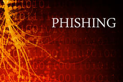 Phishing Abstract. Background in Red and Black Stock Image