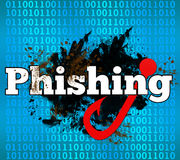 Phishing Binarny tło Obrazy Royalty Free