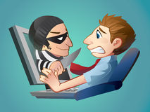 Phishing Computer Lizenzfreies Stockfoto