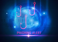 Phishing computer data steal Stock Photography