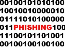 Phishing computer virus Stock Images