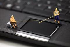 Phishing d'ordinateur et concept de vol d'identité Images libres de droits
