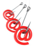 Phishing e-mail. 3d Stock Images