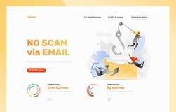 Phishing envoient le calibre de conception d'attaque images libres de droits