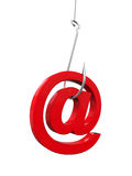 Phishing Fraud Online. Isolated on white background. 3D render Royalty Free Stock Photo