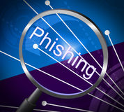 Phishing Fraud Represents Rip Off And Cheat Royalty Free Stock Images