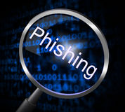 Phishing Fraud Represents Rip Off And Con Stock Photos