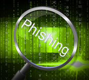 Phishing Fraud Shows Rip Off And Con royalty free illustration