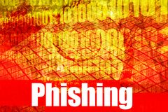 Phishing Hot Online Web Securi. Phishing, a hot online web security topic for the internet royalty free illustration