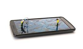 Phishing on mobile phone Stock Photos