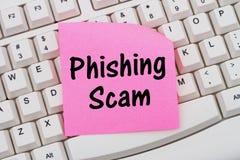 Phishing przekręt zdjęcia stock