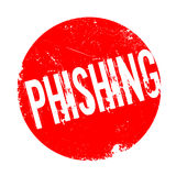 Phishing rubber stamp Stock Photography