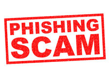 PHISHING SCAM. Red Rubber Stamp over a white background vector illustration