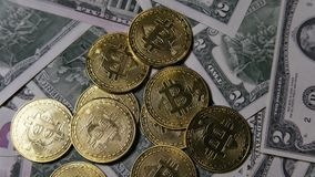 Phisical bitcoins stock video