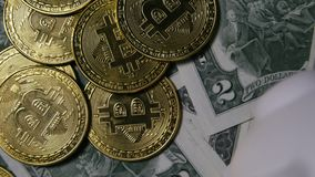 Phisical bitcoins stock footage