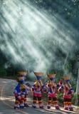 PhiTaKhon. Festival Thailand action sunshine stock photo