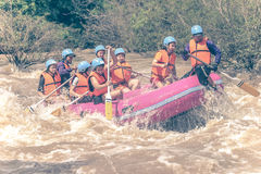 PHITSANULOK, THAILAND - AUGUST 21: Rafting on the river Khek Stock Photos