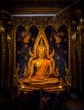 PHITSANULOK, THAILAND - 6. DEZEMBER 2014: Wat Phra Sri Rattana Ma Lizenzfreies Stockfoto