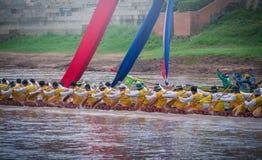 Phitsanulok, Thailand - September 16, 2018 : Long Boat Racing Fe Stock Photo