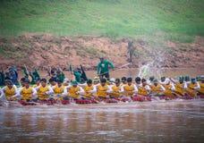Phitsanulok, Thailand - September 16, 2018 : Long Boat Racing Fe Stock Images