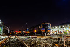 Phitsanuloke drevstation och järnväg Fotografering för Bildbyråer