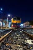 Phitsanuloke drevstation och järnväg i Thailand Royaltyfri Fotografi
