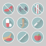 Phlebology vector flat icons Stock Photography