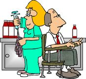 phlebotomist stock illustrationer