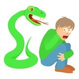 Phlegmophobia concept, cartoon illustration Royalty Free Stock Photo