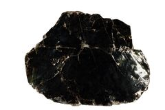 Phlogopite, schwarzes Glimmermineral lokalisiert Lizenzfreie Stockfotografie