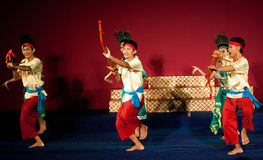 Phloy Suoy舞蹈,柬埔寨 免版税库存照片