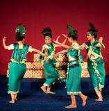 Phloy Suoy舞蹈,柬埔寨 免版税库存图片