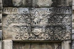Phluang圣所楣石在素林,公开区域 图库摄影