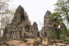 Phnom巴南寺庙 Battambang,柬埔寨 库存照片
