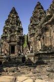 Phnom Bakeng城堡在柬埔寨 免版税库存照片