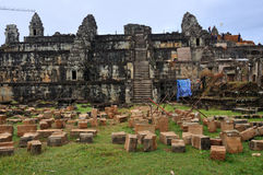 Phnom Bakheng σε Angkor Wat Στοκ Εικόνα