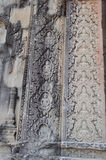 Красивый каменный высекать виска Phnom Bakheng Стоковое фото RF