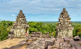 Phnom Bakheng, a Hindu and Buddhist temple at Angkor Wat - Cambodia. Phnom Bakheng, a Hindu and Buddhist temple at Angkor Wat in Cambodia Royalty Free Stock Photography