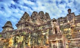 Phnom Bakheng, a Hindu and Buddhist temple at Angkor Wat - Cambodia. Phnom Bakheng, a Hindu and Buddhist temple at Angkor Wat in Cambodia Stock Photos