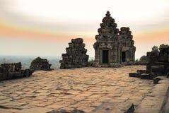 Phnom Bakheng temple. Sunset, Cambodia Royalty Free Stock Photo