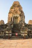 Phnom Bakheng temple at sunset Stock Image