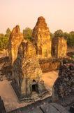 Phnom Bakheng temple at sunset Royalty Free Stock Photo