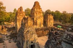 Phnom Bakheng temple at sunset Royalty Free Stock Image