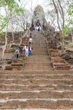 Phnom Banan temple at Battambang on Cambodia. Battambang, Cambodia -14 January 2018: Phnom Banan temple at Battambang on Cambodia Royalty Free Stock Images