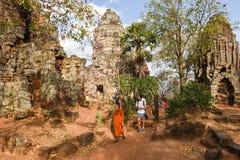 Phnom Banan temple at Battambang on Cambodia. Battambang, Cambodia -14 January 2018: Phnom Banan temple at Battambang on Cambodia Stock Photo
