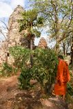 Phnom Banan temple at Battambang on Cambodia. Battambang, Cambodia -14 January 2018: Phnom Banan temple at Battambang on Cambodia Royalty Free Stock Photo