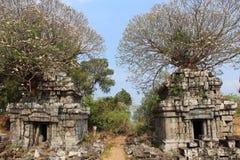 Phnom Bok świątynia Kambodża Siem Przeprowadza żniwa prowincję Zdjęcie Stock