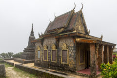 Phnom Bokor Kampot, Cambodia June 2015. Old temple on the top of Phnom Bokor Royalty Free Stock Images