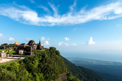 Phnom Bokor Temple Oct 2015. Old Temple on the top of mountain Royalty Free Stock Image